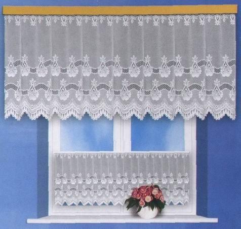 Rozárka, hotová bílá záclona