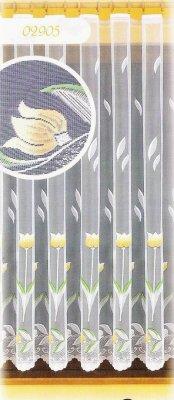 Tulipánky, hotová záclona