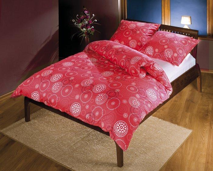 bella povlečení na franc. postel satén červené