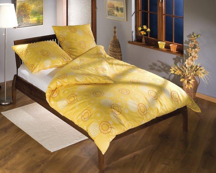 bella povlečení na franc. postel satén žluté