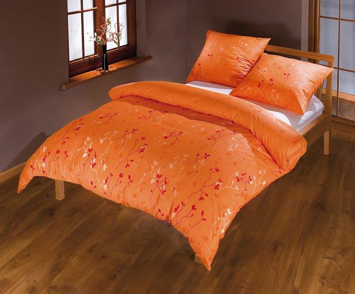 bella oranžová povlečení satén
