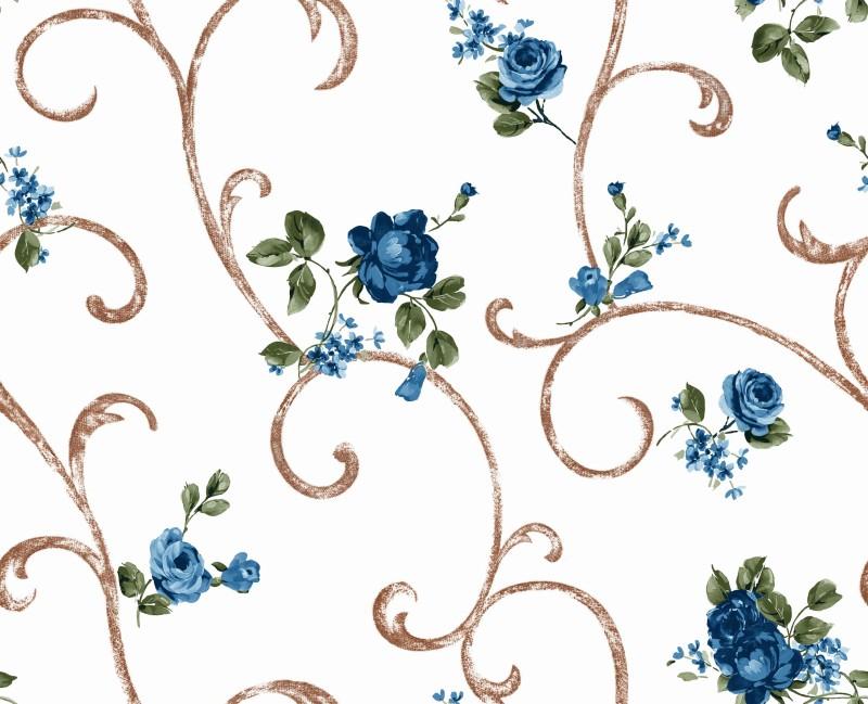 Povlak 40x40 Ornament modrá růže*