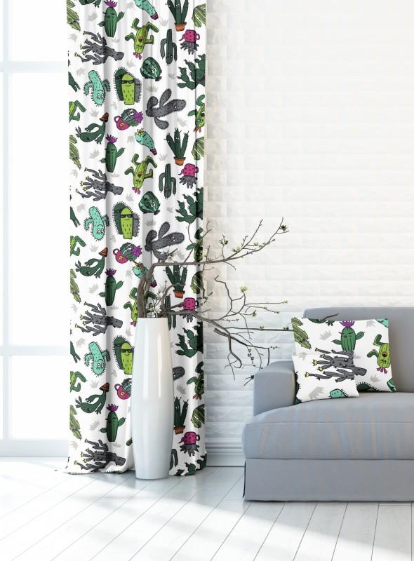 Kaktusy, dekorační závěs