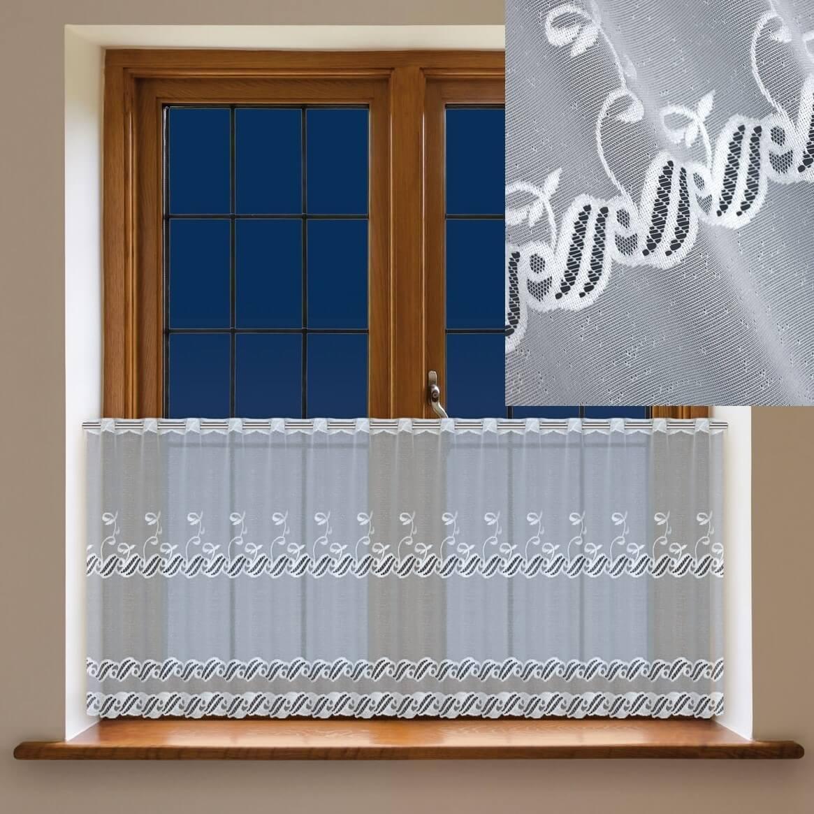 Adoria, krátká bílá záclona
