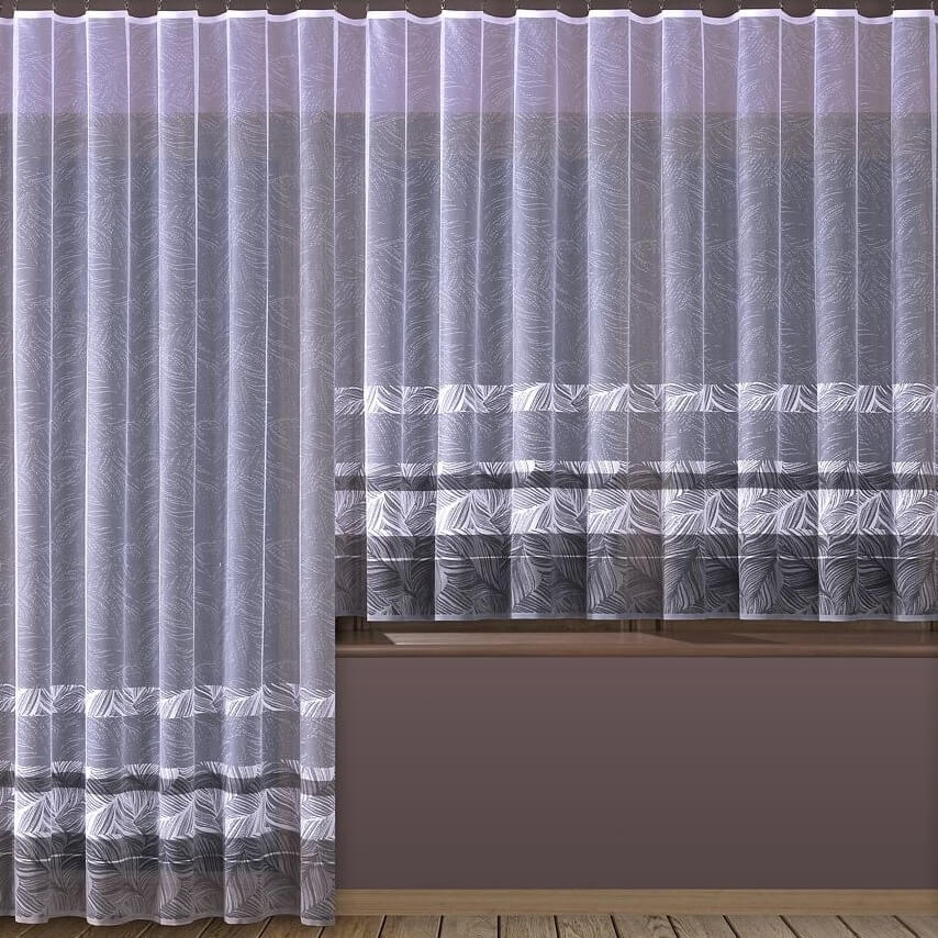 Aura, hotová bílá záclona
