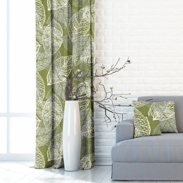 Background leaves green, zatemňovací závěs