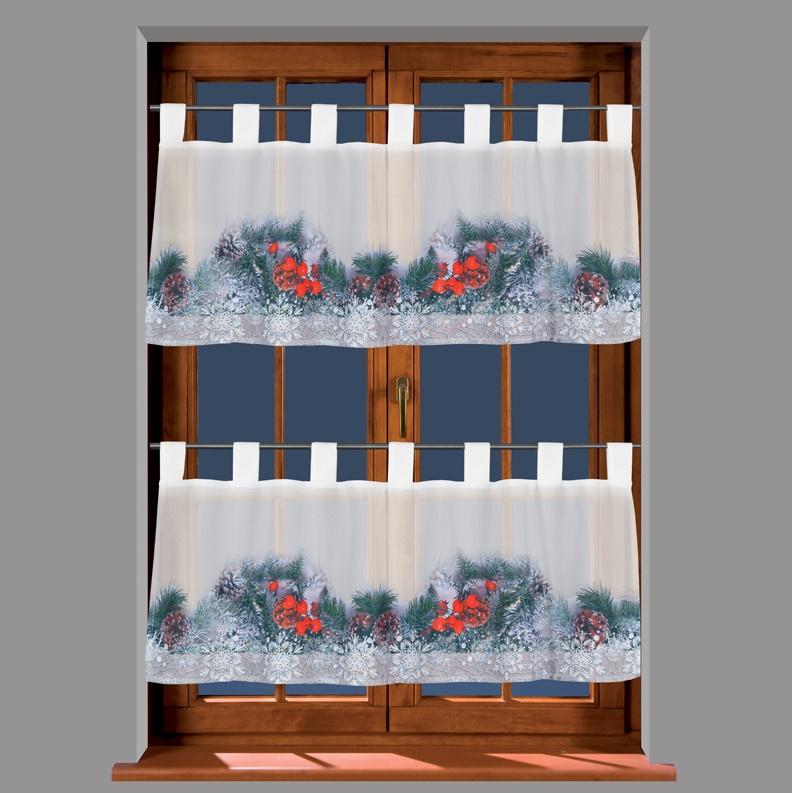 Carol vánoční, kusová vitrážová záclona
