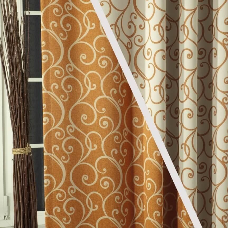 Casablanca terakota, závěs šíře 150cm