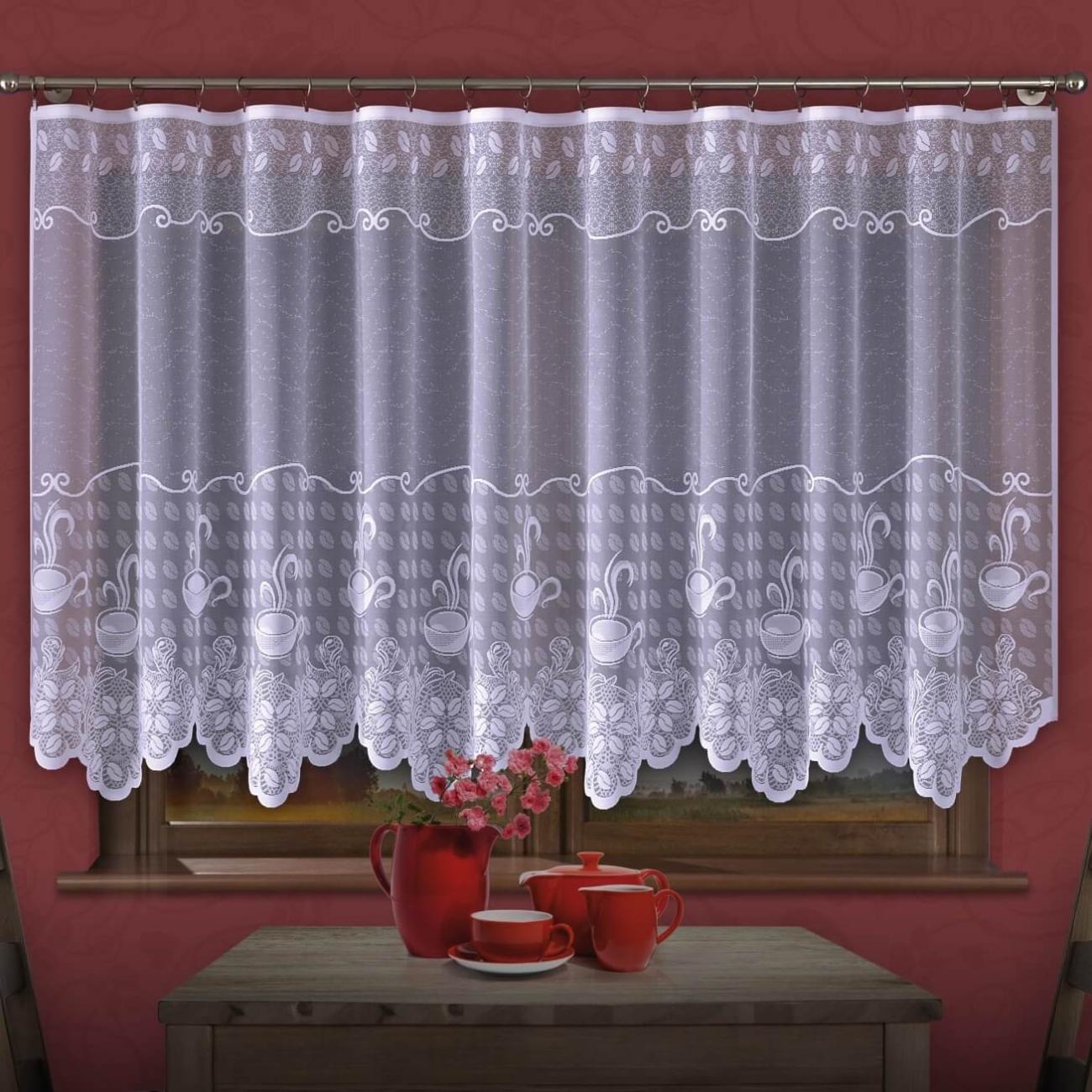 Coffee time, záclona