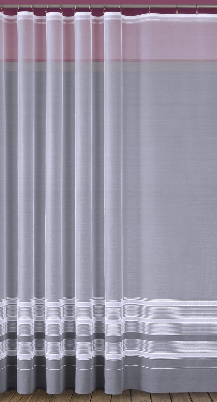 Delta, hotová bílá záclona