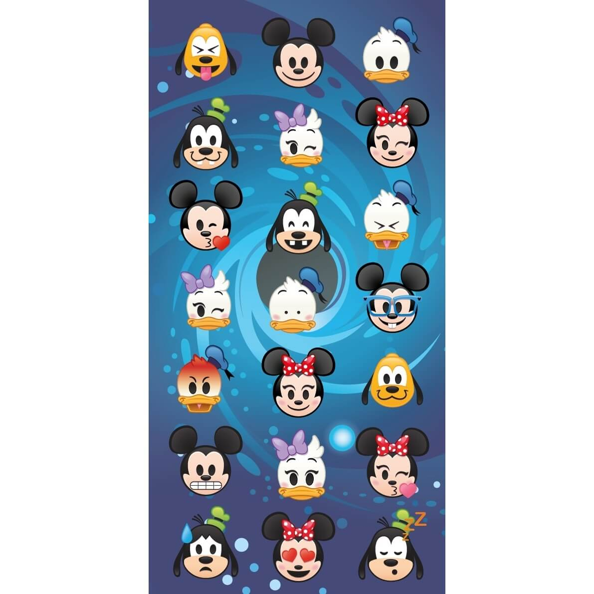 Disney Emoji, plážová osuška, rozměr 70 x 140cm