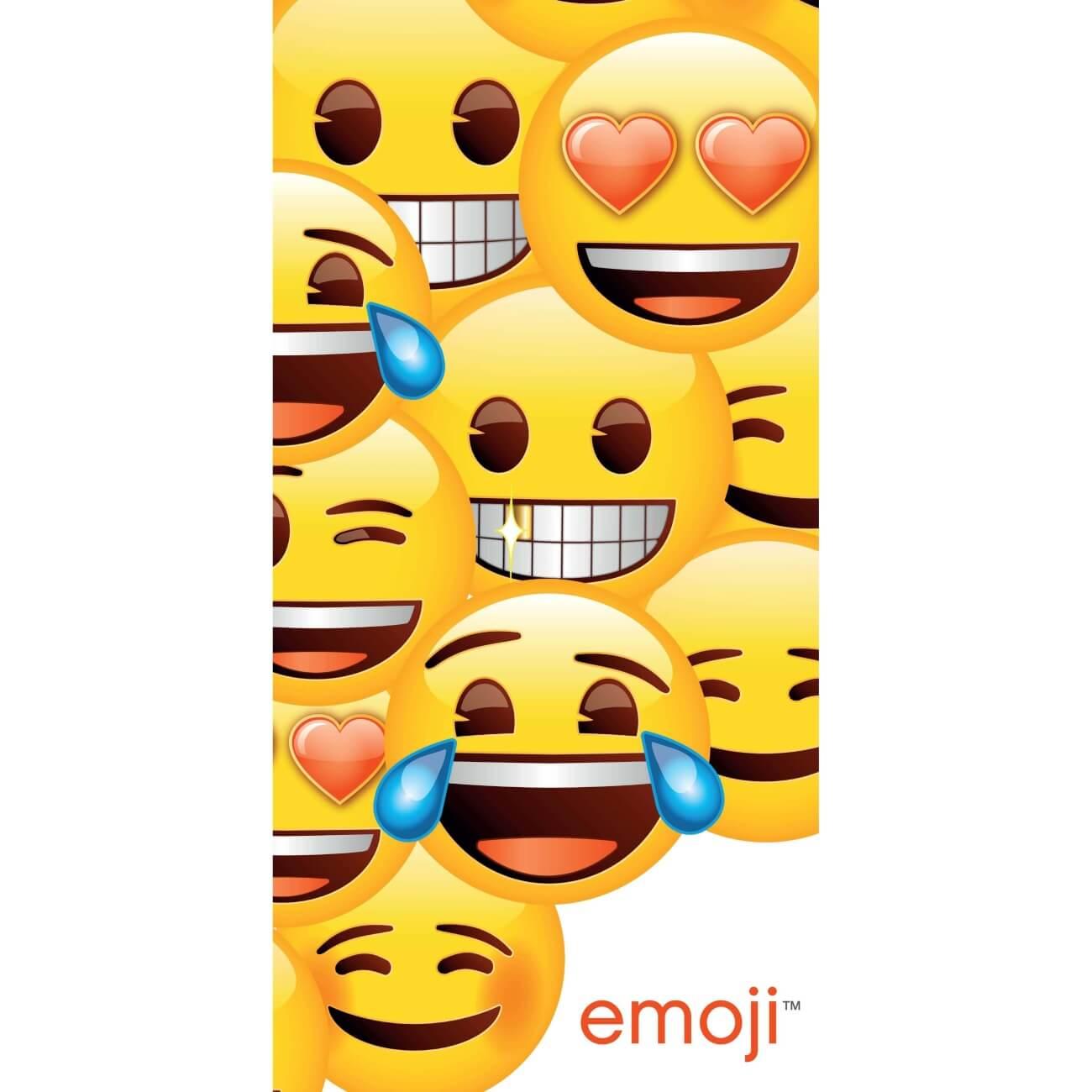 Emoji, plážová osuška, rozměr 70 x 140cm