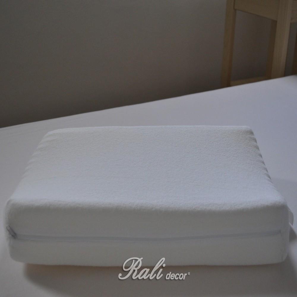 ergonomický polštář froté,  rozměr 47x30cm