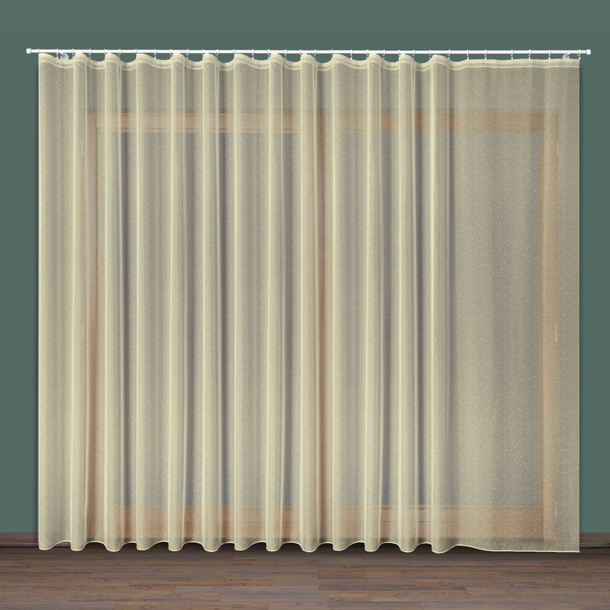 Flavie, krémová záclona, 300 cm