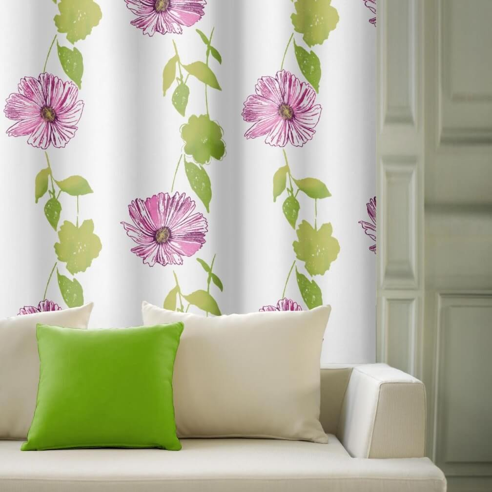 Květ růžový a zelený