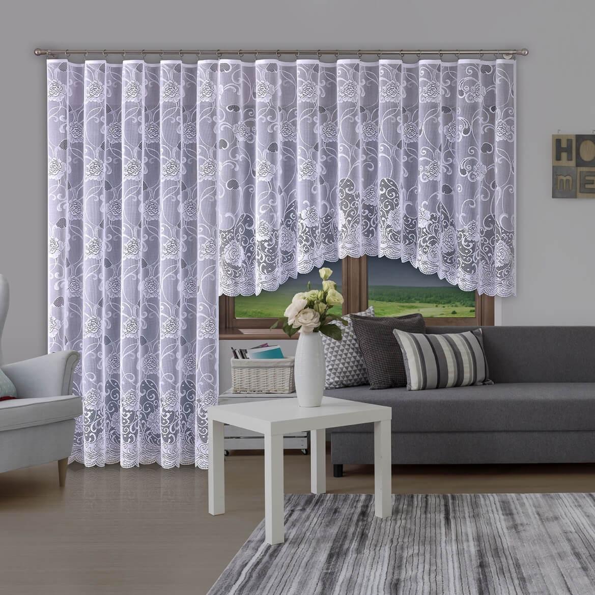 Flores, kusová záclona