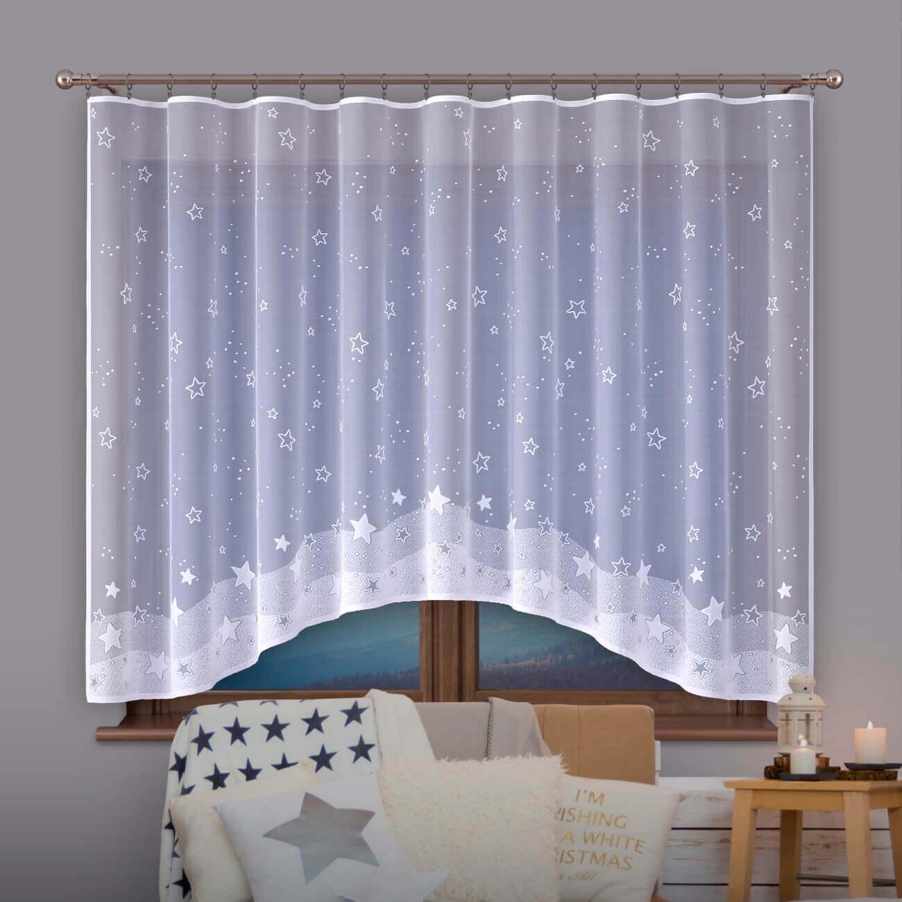 Hvězdičky, záclona