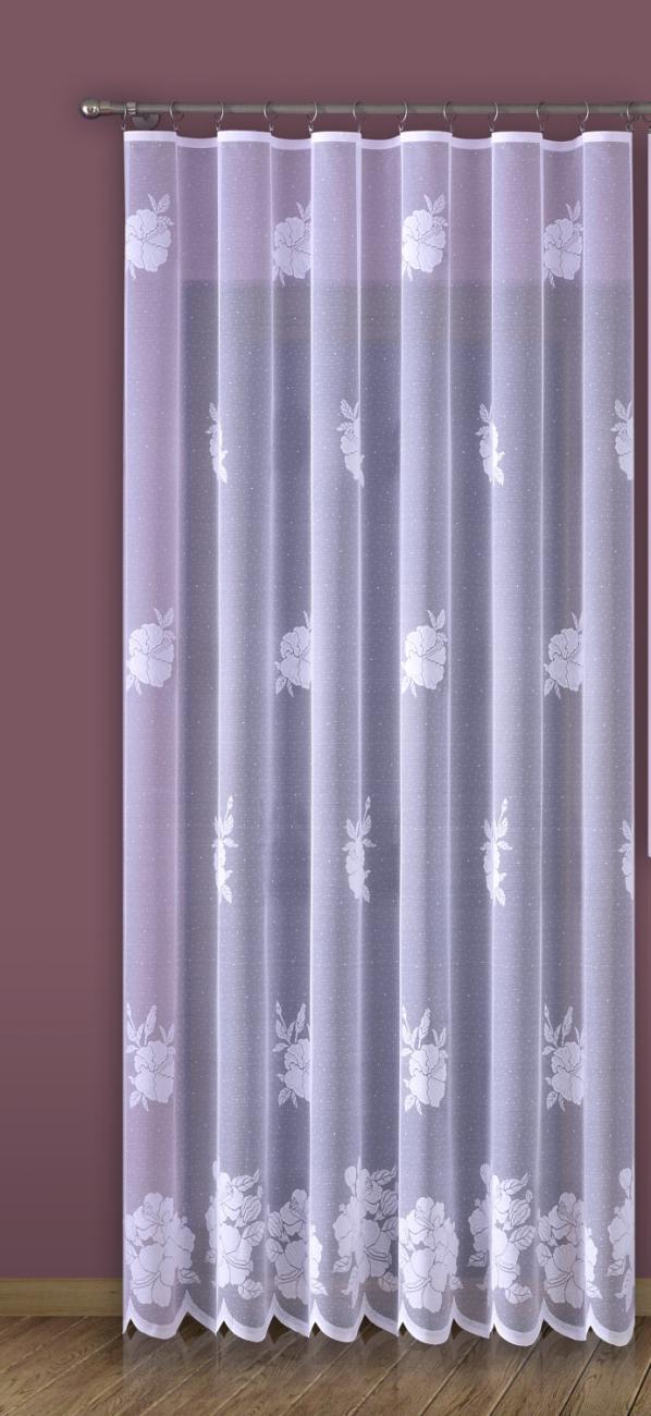 Ibišek, žakárová záclona