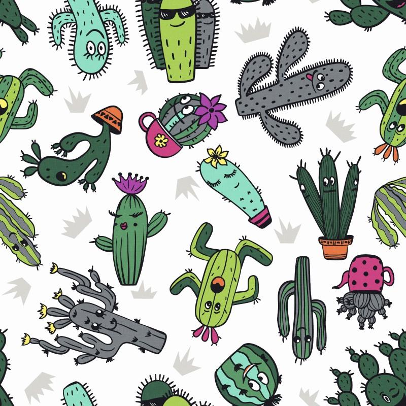 Kaktusy,saténový závěs