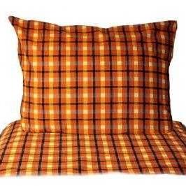 Kostka oranžová povlečení bavlna