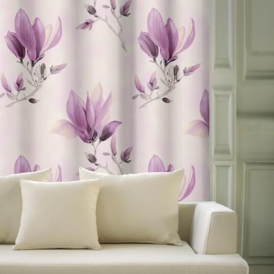 Magnolie velká lila, zatemňovací závěs