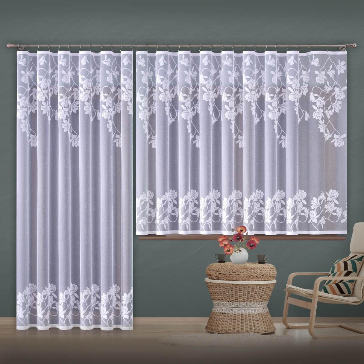 Magnolie, hotová žakárová záclona
