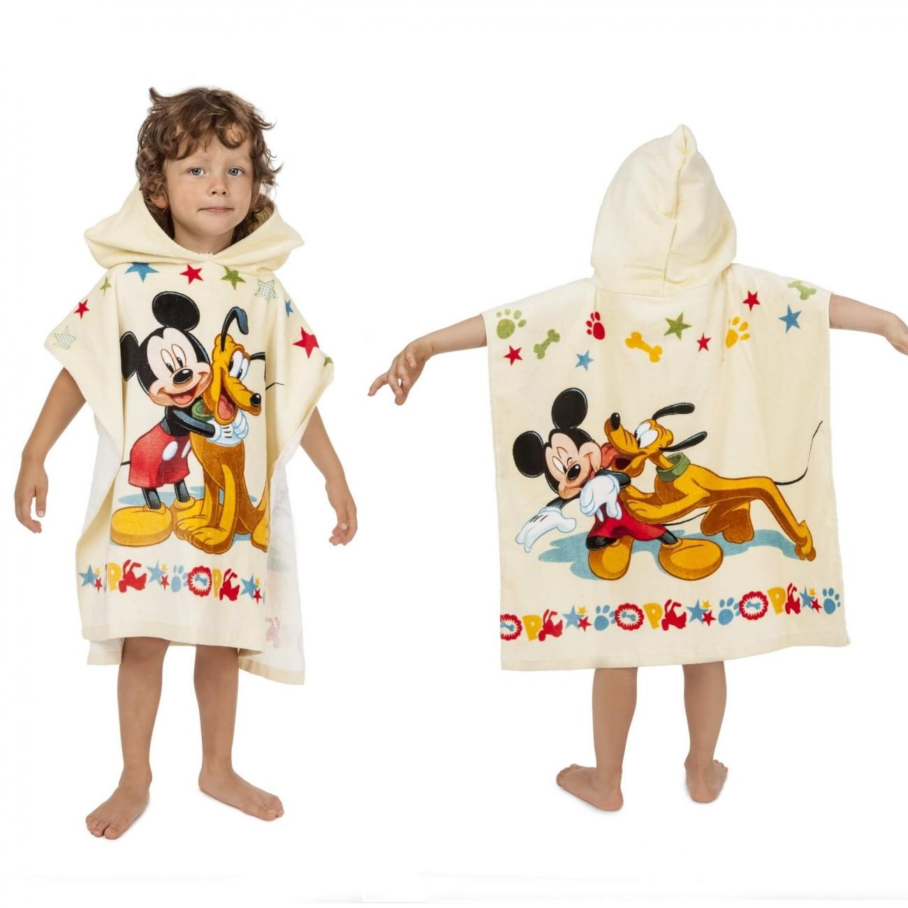Mickey a Pluto, pončo s kapucí