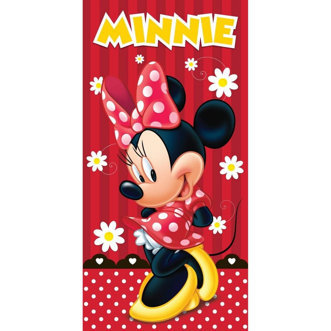 Minnie red plážová osuška, rozměr 75 x 150cm