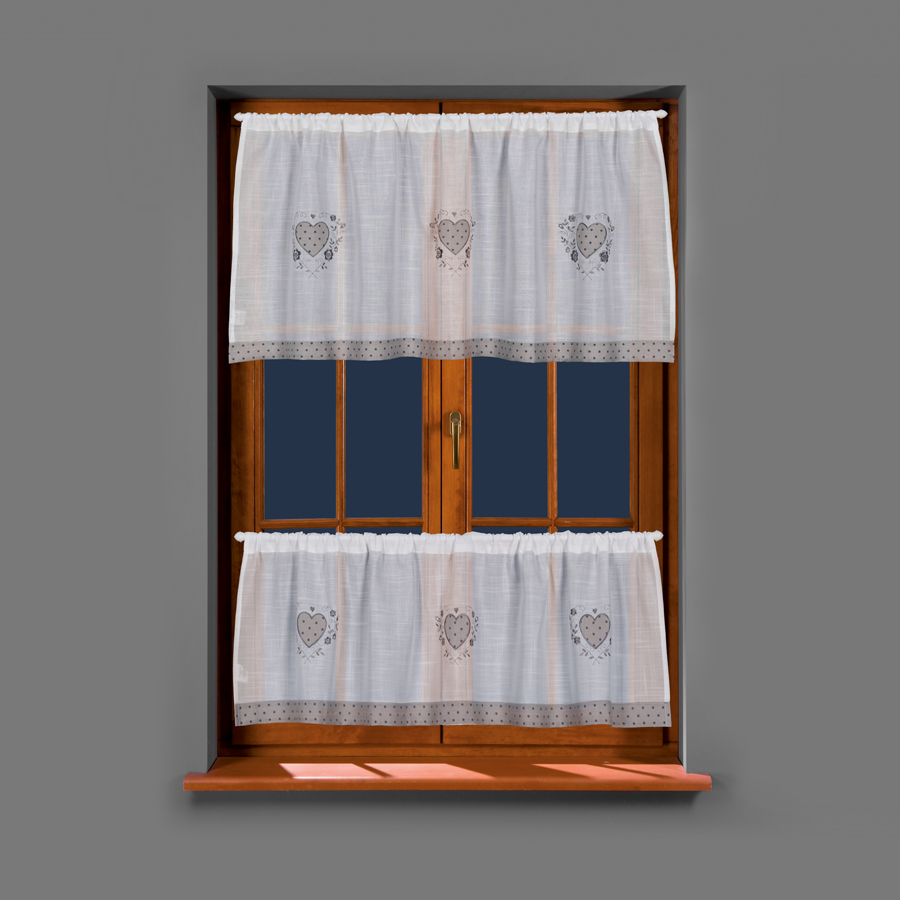Věnka, kusová vitrážová záclona