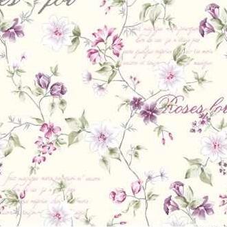 Roses for letters fialová, závěsovina
