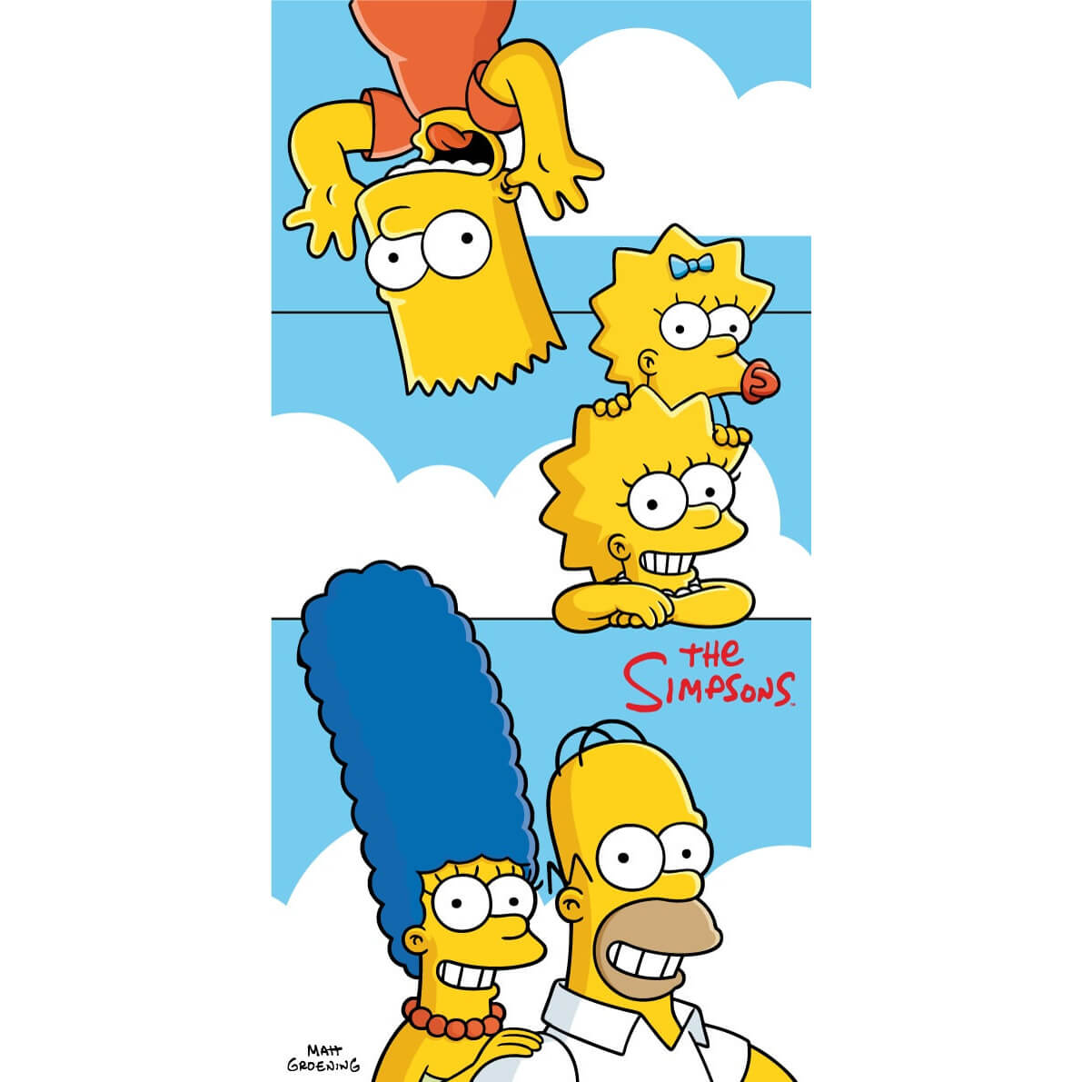 Simpsons Family clouds, plážová osuška.