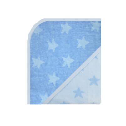 Stars modrá, osuška s kapucí.