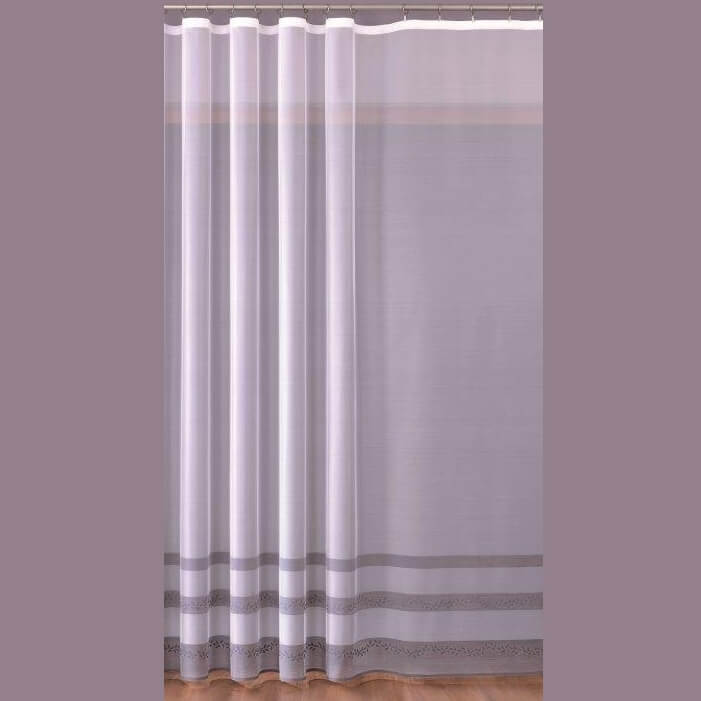 Stripe bílá záclona