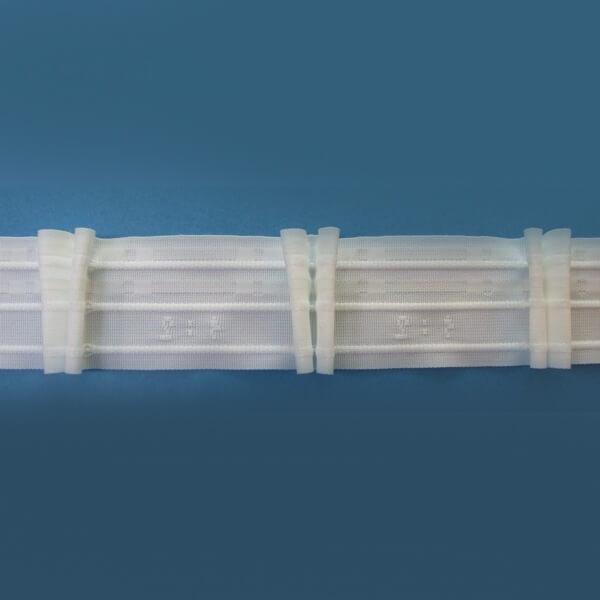 Řasící stužka na závěsy, řasí v poměru 1:2, šíře 5 cm