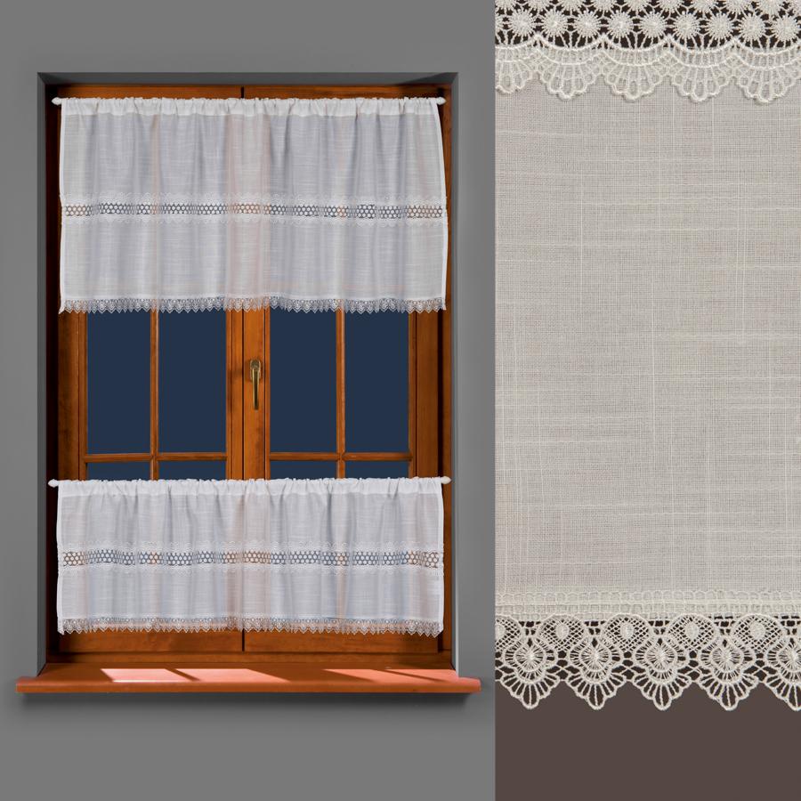 Víta, vitrážová záclona