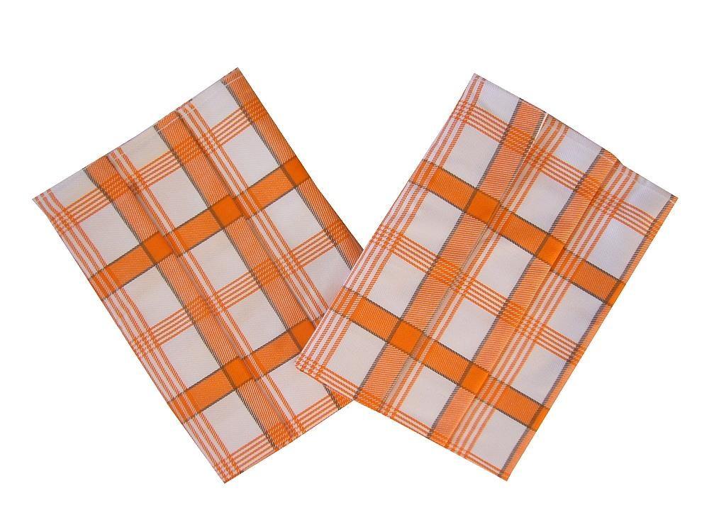 Sada, utěrky 3 ks, Káro oranžové, extra savé*