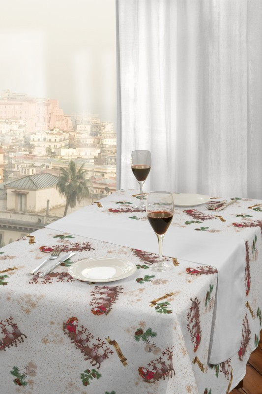 Vánoční sobi, metrážová látka italia