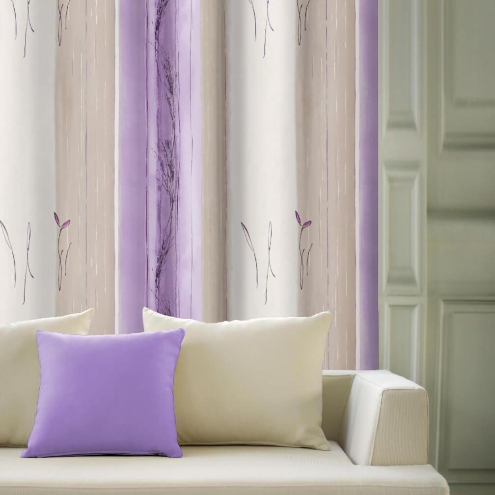 Vermont fialový, saténový závěs