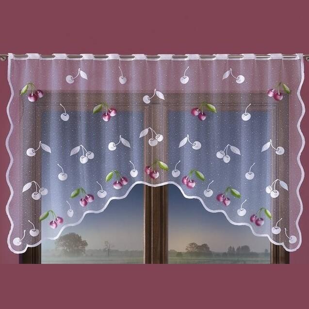 Višně, malovaná záclona